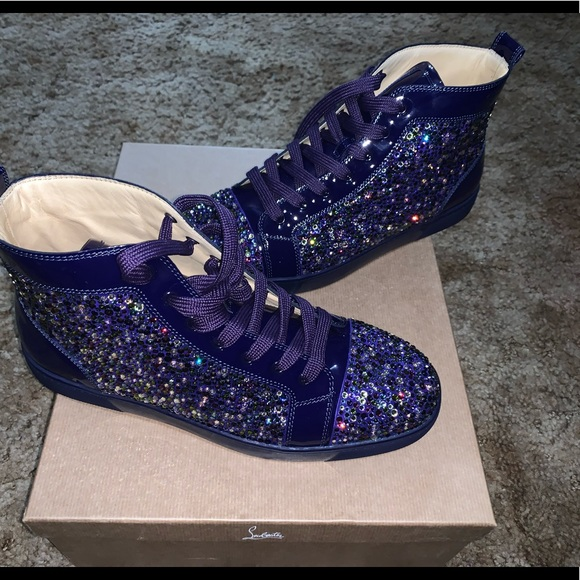 the latest ebdd6 34d2a Christian Louboutin Purple Pop Strass Sneakers NWT